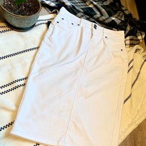 SUKO Jeans White Midi Denim Pencil Skirt size 4